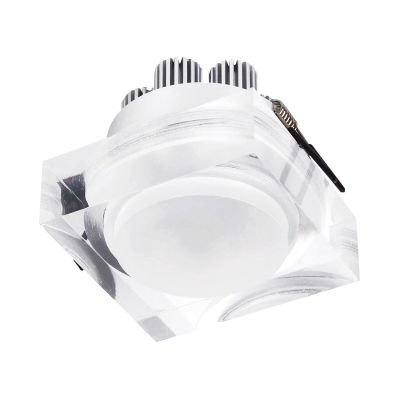 Spot Mat Quad LED Embutido Alumínio Acrílico 7,5x9cm Bella Iluminação 1 LED 6W LG8590 Corredores e Cozinhas