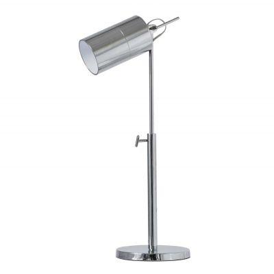Luminária Mesa Cupula Tubular Metal Aço Cromado 75x22cm Bella Iluminação 1 E27 Bivolt LM006T Mesas e Escritórios