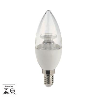 Lampada LED E14 Vela 4,5W Lisa Branca Bivolt Bella Iluminação LP016TC