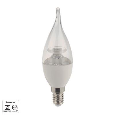 Lampada LED E14 Vela 4,5W Chama Branca Bivolt Bella Iluminação LP017TC