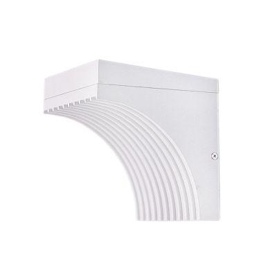 Arandela Atri Alumínio LED Branco 14,5x15cm Bella Iluminação 1 LED 9W Bivolt LX1001W Corredores e Entradas
