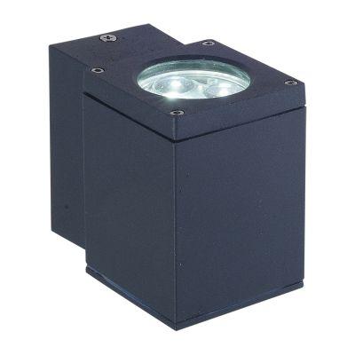 Arandela Externa Block Alumínio Preto 6x10cm Bella Iluminação 1 LED 3W Bivolt LX1031B Muros e Jardins