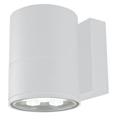 Arandela Externa Block Alumínio Branco 14,5x11cm Bella Iluminação 1 LED 6W Bivolt LX1041W Muros e Jardins