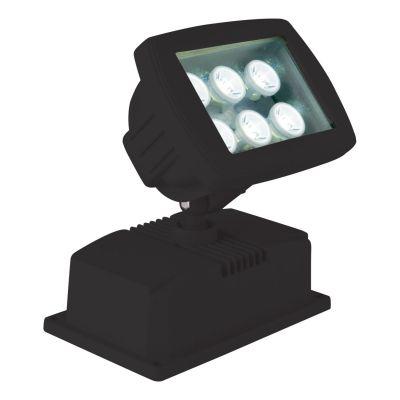 Luminaria Projetora Solo LED Alumínio Preto 16x17cm Bella Iluminação 1 LED 6W Bivolt LX1201B Salas e Quartos