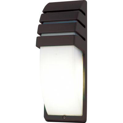 Arandela Externa Abi Policarbonato Alumínio Preto 35x12cm Bella Iluminação 1 E27 Bivolt LX5341B Jardins e Muros