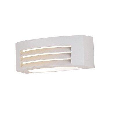 Arandela Externa Ali Horizontal Alumínio Branco 13x29cm Bella Iluminação 1 E27 Bivolt LX5491W Muros e Jardins