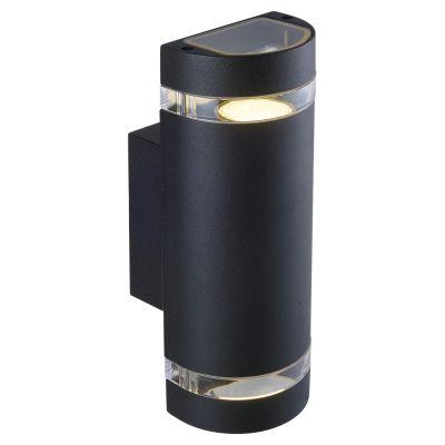 Arandela Externa Trace Alumínio Branco 10,5x10cm Bella Iluminação 2 GU10 Dicróica LX7182B Entradas e Muros