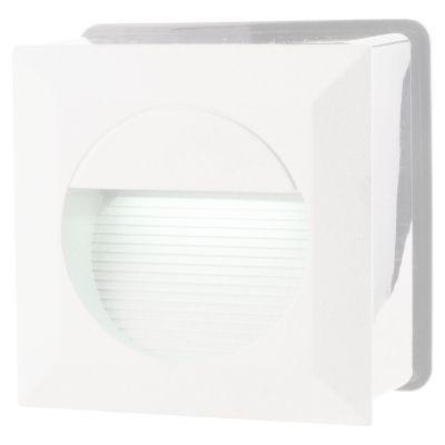Balizador Embutido Dash Quadrado LED Alumínio 7,5x12,5cm Bella Iluminação 1 LED 6W Bivolt LX9642 Quartos e Lavabos