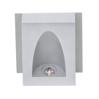 Balizador Sobrepor Risu LED Alumínio 4x11cm Bella Iluminação 1 LED 3W Bivolt LZ022A Banheiros e Lavabos