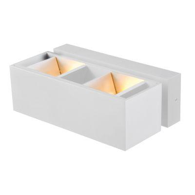 Arandela Sobrepor Flap Alumínio Branco 10x18cm Bella Iluminação 2 G9 Halopin Bivolt LZ028W Escritórios e Salas