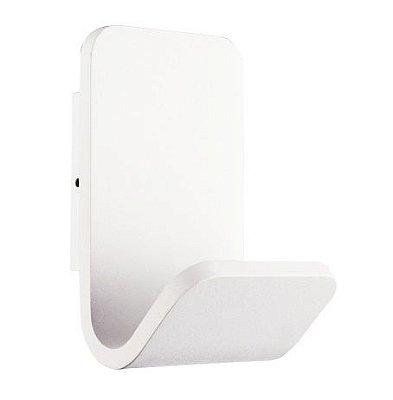 Arandela LED Fold Vertical Alumínio Branco 15x9,7cm Bella Iluminação 1 LED 3W Bivolt LZ047 Corredores e Entradas