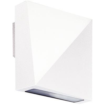 Arandela Acca Quadrada LED Alumínio Branco 10x4,5cm Bella Iluminação 1 LED 6W Bivolt LZ048 Quartos e Banheiros