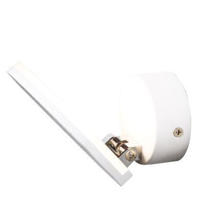 Arandela Bend Articulável Metal Branco Fosco 15x12cm Bella Iluminação 1 LED 3W Bivolt MG008 Quartos e Salas