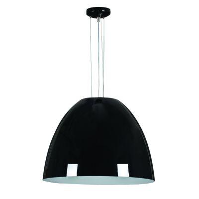 Pendente Sino Vertical Alumínio Preto 54x60cm Bella Iluminação 1 E27 Bivolt MH001D Cozinhas e Entradas