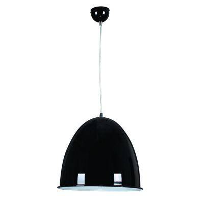 Pendente Sino Vertical Alumínio Preto 38x42cm Bella Iluminação 1 E27 Bivolt MH002D Cozinhas e Entradas