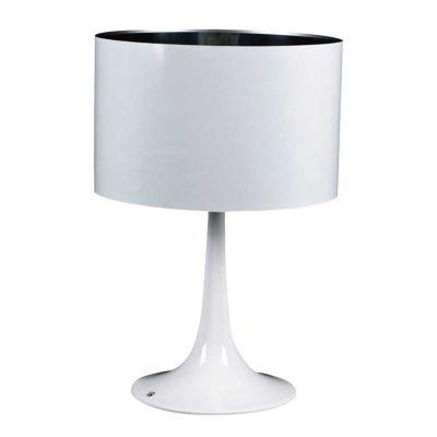 Abajur Acetato Cupula Alumínio Branco Conico 57x38cm Bella Iluminação 1 E27 Bivolt MH565B Cabeceiras e Mesas