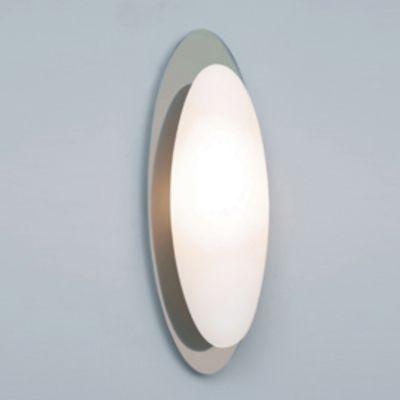 Arandela Oval Aço Vidro Branco Metal Cromado 10x30cm Bella Iluminação 1 G9 Halopin MO0015 Salas e Corredores