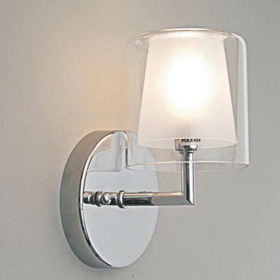 Arandela Maison Metal Cromado Cupula Vidro 20x12cm Bella Iluminação 1 G9 Halopin MO0016 Salas e Hall