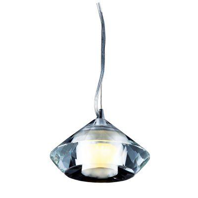 Pendente Golf Metal Conico Vidro Transparente Ø10cm Bella Iluminação 1 G9 Halopin MO2588 Cozinhas e Entradas