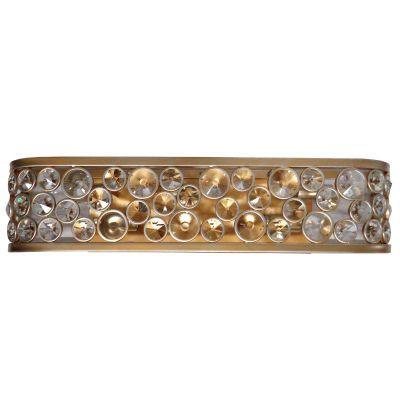 Arandela Champ Metal Ouro Velho Cristal 10x14,5cm Bella Iluminação 5 E14 40W Bivolt MR003 Corredores e Entradas