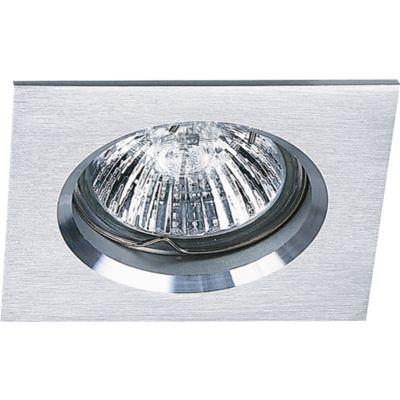 Spot Embutido Fit Quad Alumínio Escovado 5,7x8cm Bella Iluminação 1 GU10 Dicróica Bivolt NS1002A Cozinhas e Salas