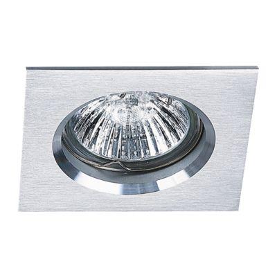 Spot Embutido Fit Quad Alumínio Branco 5,7x8cm Bella Iluminação 1 GU10 Dicróica Bivolt NS1002B Cozinhas e Salas
