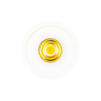 Spot Embutido Halo Redondo LED Alumínio Branco 14,5x14cm Bella Iluminação 1 LED Bivolt NS1011 Salas e Corredores