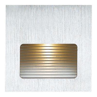 Balizador Embutido Risca Quad LED Alumínio 4,5x7,6cm Bella Iluminação 1 LED 3W Bivolt NS1015 Quartos e Lavabos