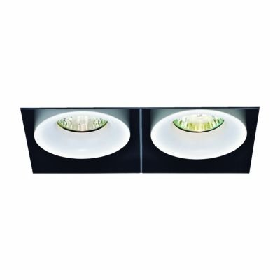 Spot Duplo Aro No Frame Alumínio Branco 17,8x11,5cm Bella Iluminação 1 GU10 Dicróica 50W Bivolt NS1030 Salas e Hall