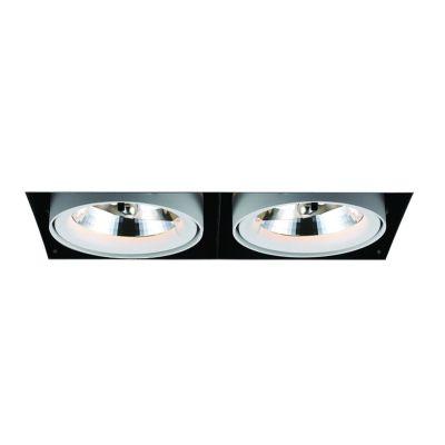 Spot Duplo Aro No Frame Alumínio Branco 29,5x12,3cm Bella Iluminação G53 2 A111 50W Bivolt NS1032 Salas e Hall