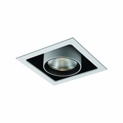 Spot Embutido Spy Alumínio Quadrado Branco 13,5x14,5cm Bella Iluminação 1 LED 20W Bivolt NS1046 Salas e Hall