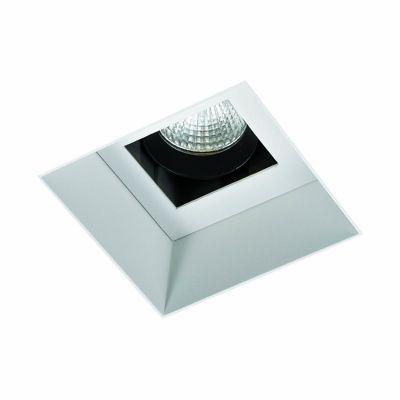 Spot Embutido Wall No Frame Quadrado Branco 10,5x8,4cm Bella Iluminação 1 LED 6W Bivolt NS1056 Quartos e Salas