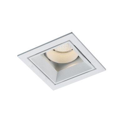 Spot Embutido Jan LED Quadrado Alumínio Branco 9,6x8,2cm Bella Iluminação 1 LED 9W Bivolt NS1058 Cozinhas e Quartos