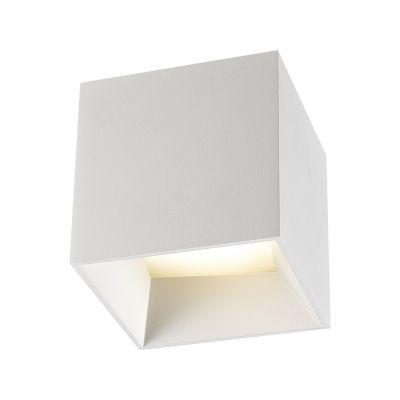 Spot Sobrepor Arris LED Cubico Alumínio Branco Ø10,5cm Bella Iluminação 1 LED 9W Bivolt NS1059W Cozinhas e Balcões