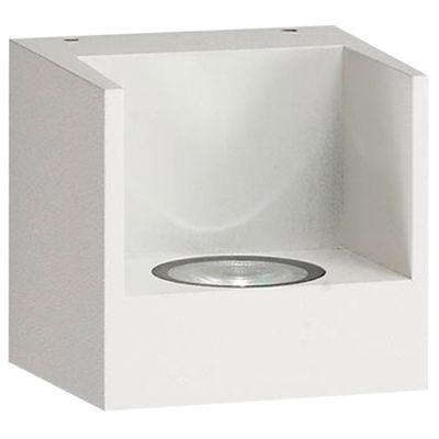 Arandela Bini LED Quadrada Alumínio Branco 8x7cm Bella Iluminação 1 LED 2,5W Bivolt NS1910W Salas e Quartos