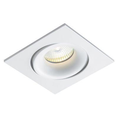 Spot Embutido Luna Quad Alumínio Branco 3,5x8cm Bella Iluminação 1 Minidicróica Bivolt NS411 Quartos e Corredores