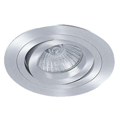 Spot Embutido Ecco Redondo Alumínio Escovado Ø12cm Bella Iluminação 1 E27 PAR20 Bivolt NS5200A Cozinhas e Entradas