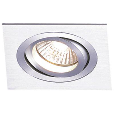Spot Embutido Ecco Quadrado Alumínio Escovado Ø12cm Bella Iluminação 1 E27 PAR20 Bivolt NS5201A Salas e Quartos