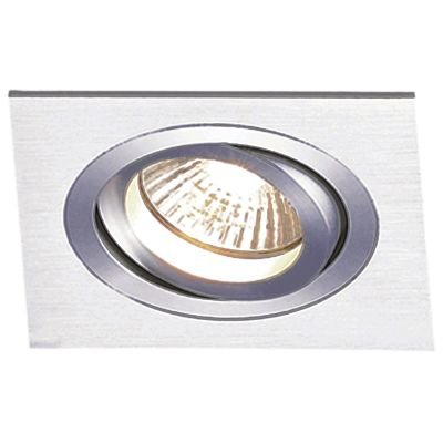 Spot Embutido Ecco Quad Alumínio Escovado 12x17cm Bella Iluminação 1 PAR30 Bivolt NS5301A Entradas e Cozinhas