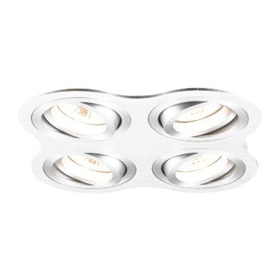 Spot Embutido Ouse Quad 4 Foco Alumínio 5,8x25,4cm Bella Iluminação 4 GU10 Dicróica Bivolt NS5600-4B Salas e Hall