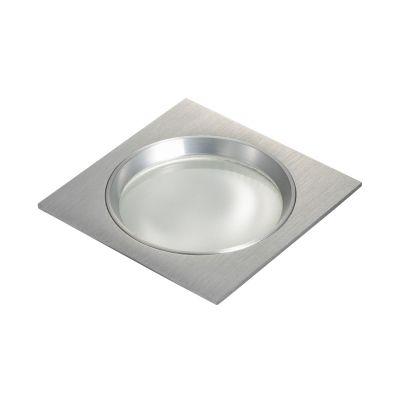 Spot Embutido Fit Quad Alumínio Escovado 8x11,6cm Bella Iluminação 1 G9 Halopin Bivolt NS5901A Entradas e Quartos
