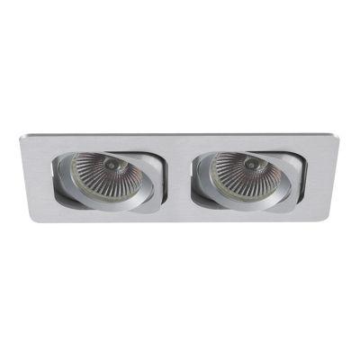 Spot Embutido Monet Ret Alumínio Duplo 5,7x17,4cm Bella Iluminação 2 GU10 Dicróica Bivolt NS6002B Salas e Hall