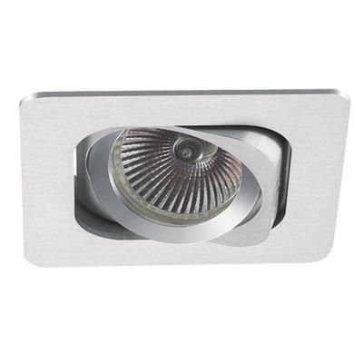Spot Embutido Monet Quad Alumínio Escovado 11,5x13cm Bella Iluminação 1 PAR20 Bivolt NS6201A Corredores e Cozinhas
