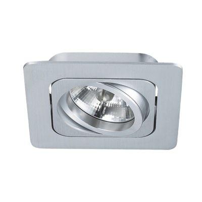 Spot Embutido Monet Quad Alumínio Branco 8x13cm Bella Iluminação 1 AR70 Bivolt NS6701B Corredores e Cozinhas