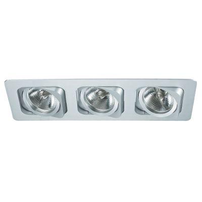 Spot Embutido Monet Ret Triplo Alumínio Branco 8x35cm Bella Iluminação 3 AR70 Bivolt NS6703B Entradas e Quartos
