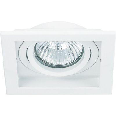 Spot Embutido Conecta Quad Alumínio Branco 4x10,2cm Bella Iluminação 1 GU10 Dicróica Bivolt NS7001B Salas e Hall