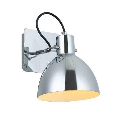 Arandela Haus Sino Direcionável Metal Cromado 19x16cm Bella Iluminação 1 E27 40W Bivolt OP052CR Escritórios e Mesas