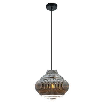 Pendente Fuzy Metal Vidro Transparente Cromado 25x27,5cm Bella Iluminação 1 E27 40W Bivolt OP055C Balcões e Salas