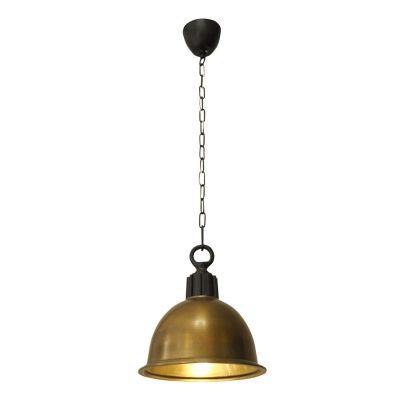 Pendente Vertical Balia Sino Metal Ouro Velho 31x28cm Bella Iluminação 1 E27 Bivolt PEI0003BO Balcões e Cozinhas