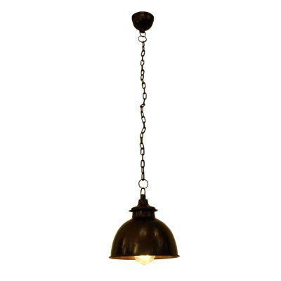 Pendente Udairpur Sino Vertical Metal Envelhecido 20x19cm Bella Iluminação 1 E27 Bivolt PEI0030BO Balcões e Mesas